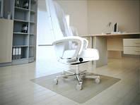 Защитные напольные коврики под кресло 0.8мм. с закругленными краями 1,0*1,25м. прозрачный