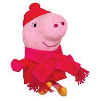 Peppa. Мягкая игрушка Пеппа в зимней одежде, 20 см  (25089)