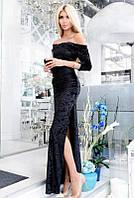 Черное длинное платье  -КАРМЕЛА-