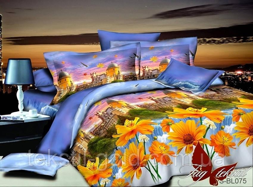 ТМ TAG Комплект постельного белья 3D Полисатин Двуспальный PS-BL075