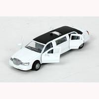Технопарк. Автомодель - ЛИМУЗИН (белый, свет, звук) (SL970WB)