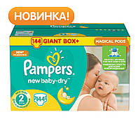 Pampers. Подгузники Pampers New Baby-Dry 2 (3-6 кг), 144 шт. (737193)