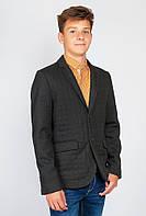 Деловой пиджак junior (Черно-зеленый). 197F023.5