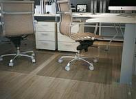 Защитные напольные коврики под кресло 1 мм. с прямыми краями 1,0*1,25м. прозрачный