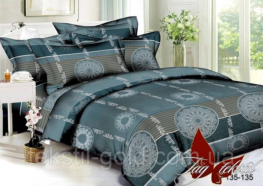 ТМ TAG Комплект постельного белья 3D Полисатин Двуспальный PS-BL135