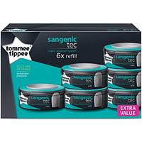 Tommee Tippee. Сменная касета для накопителя подгузников Sangenic Tec, 6шт (82537502)