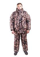Зимний рыбацкий костюм лес Сосновый , толстый слой синтипона, водонепроницаемая мембрана алова, -30с комфорт