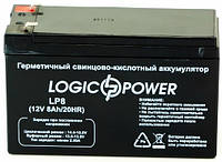Аккумулятор Logicpower 8Ah 12V (LP12-8), фото 1