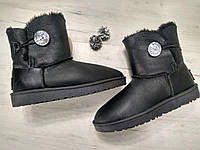 Женские угги UGG Australia Bailey Button Bling Black Реплика