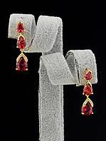 048034 Серьги 'XUPING' Фианит позолоченное украшение (ювелирная бижутерия)
