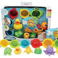 Playgro. Игрушки для ванны 15 элементов, 3мес+ (25245)