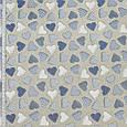 Декоративная ткань шторная ткань голубые сердечки на бежевом фоне хлопок 70% Ткани для штор на метраж, фото 2
