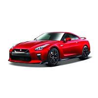 Bburago.  Автомодель - NISSAN GT-R (ассорти красный, белый металлик, 1:24) (18-21082)