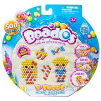 Beados. Игровой набор аквамозаики из бусинок – КОРОЛЕВСТВО СЛАДОСТЕЙ (500 бусинок, спрей, шаблоны, аксесс.) (10771)