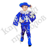 Маскарадный костюм Мушкетер синий (размер S), фото 1