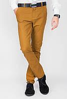 Классические мужские брюки горчичного цвета. АРТ- 703K001.5