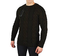 Коричневый мужской вязаный теплый свитер HRH