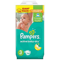 Pampers. Подгузники Pampers Active Baby-Dry Размер 3 (Midi) 5-9 кг, 124шт (459282)