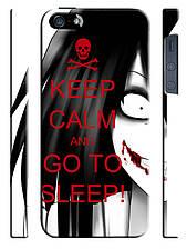 Чехол для iPhone 5/5s Keep calm and go to sleep!