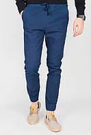 Стильные мужские брюки свободного кроя с манжетами. (Синий). АРТ-571K001.5