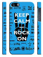 Чехол для iPhone 5/5s Keep calm and rock on