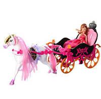 Карета 689Y с лошадью 51 см, кукла 22 см, аксессуары, в коробке 62,5*18,5*28 см Royaltoys