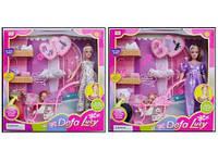 """Беременная кукла """"Defa Lucy"""" 8049 с куколкой, коляской, одеждой, сумочкой Royaltoys"""