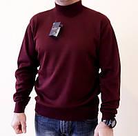 Гольф мужской шерстяной 48-54р., цвет бордо, свитер с горлом