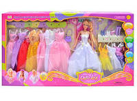 Кукла DEFA 8027 с одеждой и обувью (11 платьев, игрушка для девочек типа Барби) Royaltoys