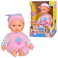 Кукла пупс 5311 Саша с функцией записи и аксессуарами в коробке 24*16*36см (типа Беби Борн) Royaltoys