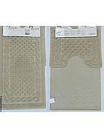 Набор ковриков для ванной 60х100, 60х50 хлопок Arya Erguvan Слоновая кость