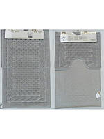 Набор ковриков для ванной 60х100, 60х50 хлопок Arya Erguvan Серый