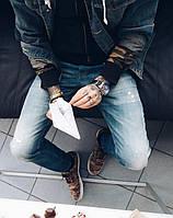 Джинсы P.n.B 2070 молодёжные рваные мужские, фото 1