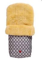 Kaiser. Конверт теплый из овчины Natura антрацит с орнаментом (65411324)