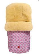 Kaiser. Конверт теплый из овчины Natura розовый с орнаментом (65411337)