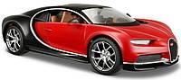 Автомодель (1:24) Bugatti Chiron чёрно-красный металлик Maisto (31514 black/red)