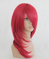 Парик женский, красный цвет, длина - 55 см, парик на каждый день, косплей парик, аниме