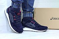 Мужские кроссовки Asics Gel Lyte III темно синий с красным 3709