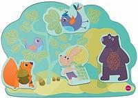 Настенная игрушка Oribel Veritiplay Веселий кролик и его друзья, деревянные игрушки