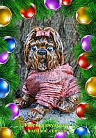 Собачка Йорк в свитере 21 см. подарок сувенир статуэтка
