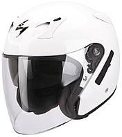 Открытый шлем Scorpion EXO-220 белый, M, фото 1
