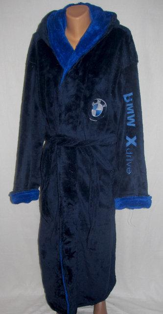 Стильный махровый халат для мальчика (6-8 лет)  оптом и в разницу