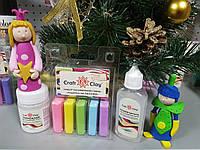 Набор полимерной глины для детской лепки+ термоклей+размягчитель для комфортной работы+подарок!