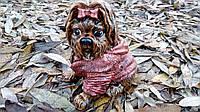 Собачка Йорк в свитере 21 см. Сувенир подарок (полистоун)