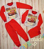 Детская пижама с начесом Тачки Маквин(86-134)