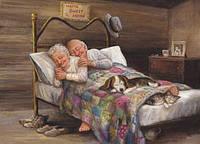 Бабушка рядышком с дедушкой (полная выкл.)20*15 см
