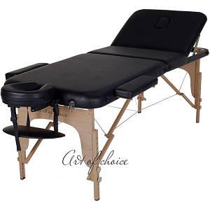 Массажный стол складной Art of choice Den (черный), код: HQ03B