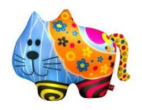 """Антистресова іграшка м`яконабивна """"SOFT TOYS 62 """"Кіт"""" в квіточку"""