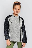 Куртка комби junior (Черно-серый). 664K001.5