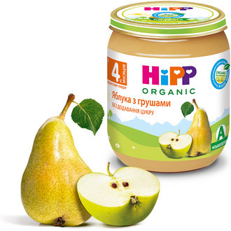 "4293 Hipp Фруктове пюре ""Яблука з грушами"" 125"